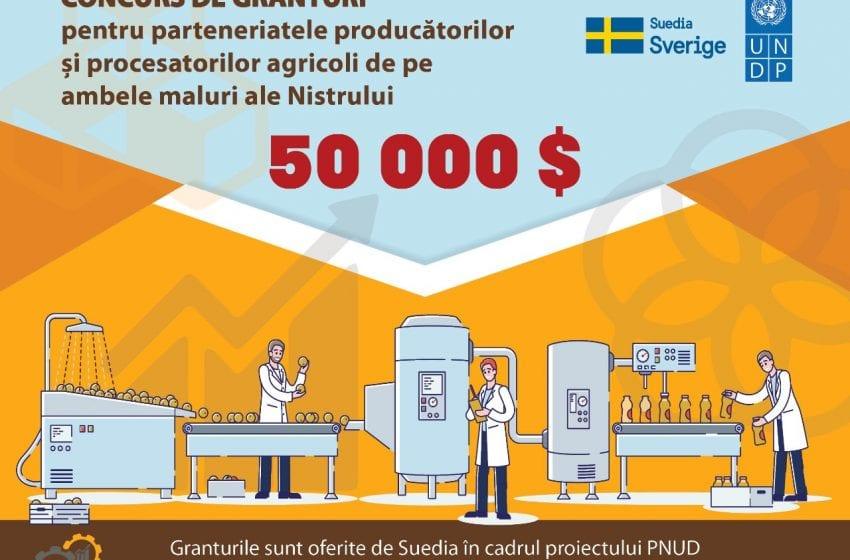Suedia și PNUD oferă granturi de 50 000 de dolari pentru agricultorii din Republica Moldova, inclusiv regiunea transnistreană