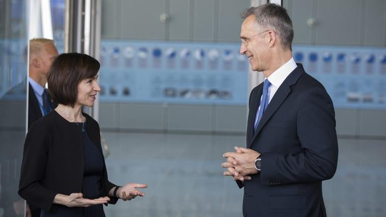 Maia Sandu a avut o conversație telefonică cu Secretarul general al NATO. Stoltenberg a scris că a avut o discuție bună