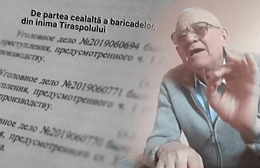 """Un bătrân din Tiraspol luptă pentru libertate.A atentat la ce-i mai """"sfânt"""" pentru regim: Trupele ruse, """"președintele"""" și pseudo țară"""