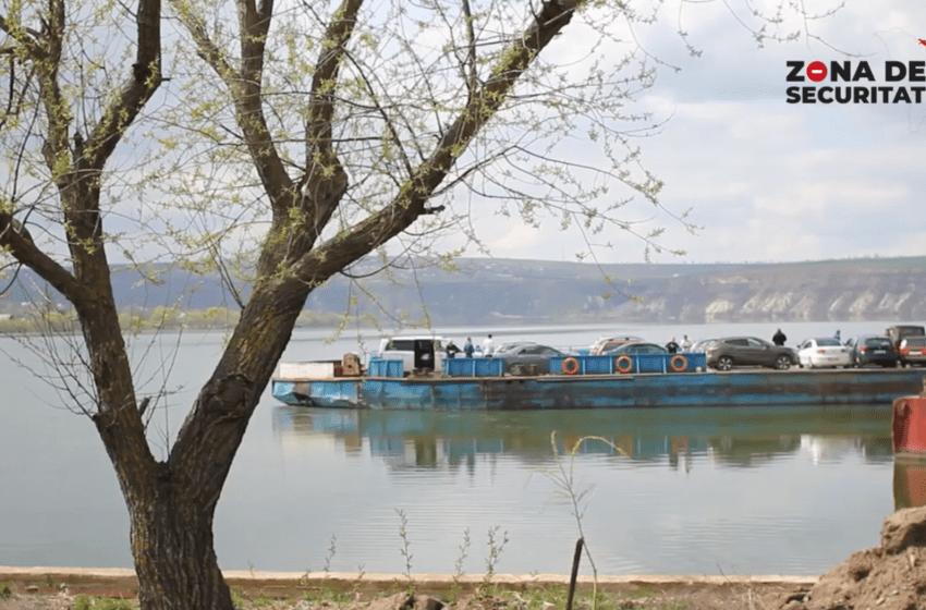 VIDEO. Restricții de pe ambele maluri. Starea deplorabilă a feribotului Molovata impune noi interdicții oamenilor din stânga Nistrului