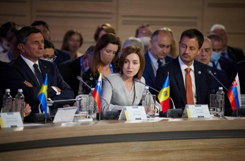 """Discursul Maiei Sandu în cadrul summitului """"Platforma Crimeea"""": """"Trebuie să combatem împreună amenințările"""""""