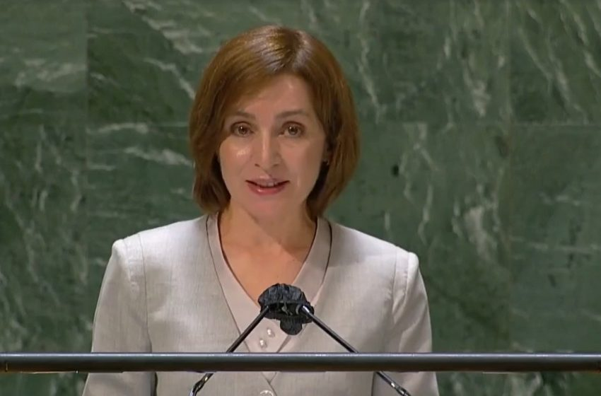 VIDEO. Maia Sandu a cerut de la tribuna ONU retragerea trupelor ruse din stânga Nistrului