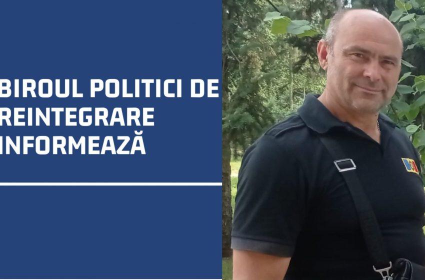 Reacția Biroului Politici de Reintegrare privind reținerea lui Dorel Roșca