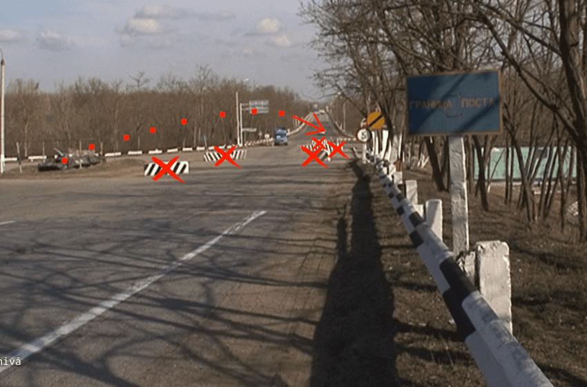 VIDEO. Postul de pacificare nr.9: mai puține blocuri de beton și bariere, dar în continuare cu mașină blindată rusească